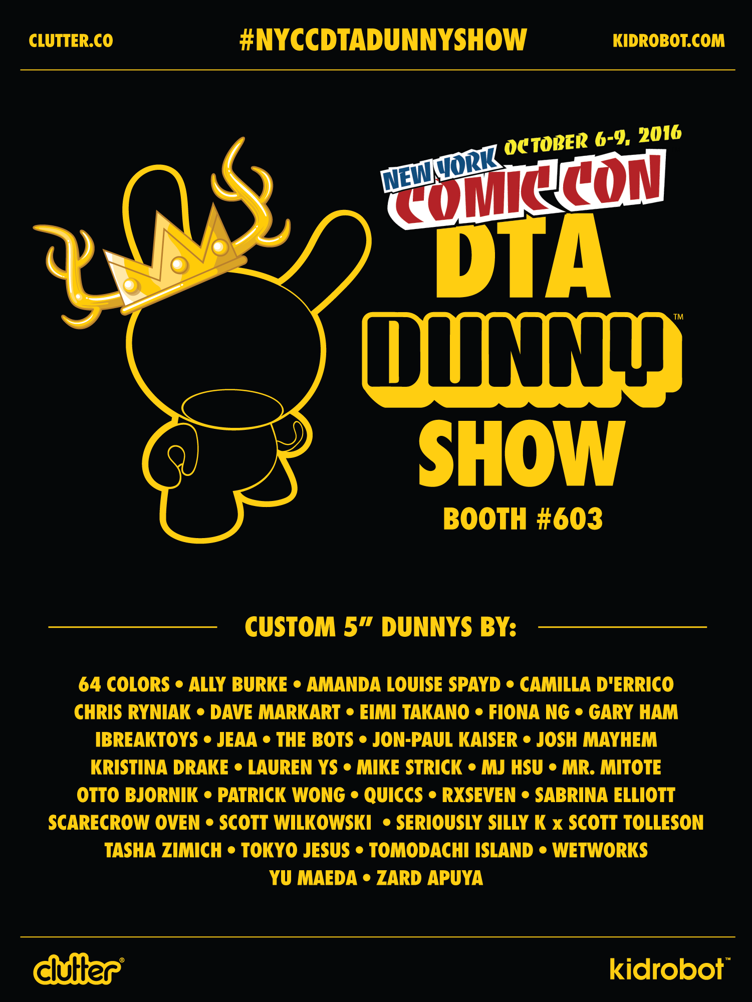 NYCC DTA dunny Show
